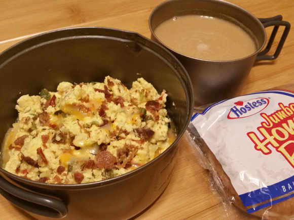 Bacon & Egg Scramble - Lightweight Backpacking Recipe