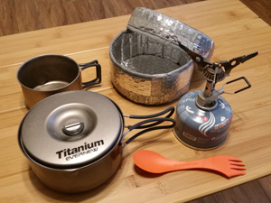 Ultralight Backpacking Cooking Utensils