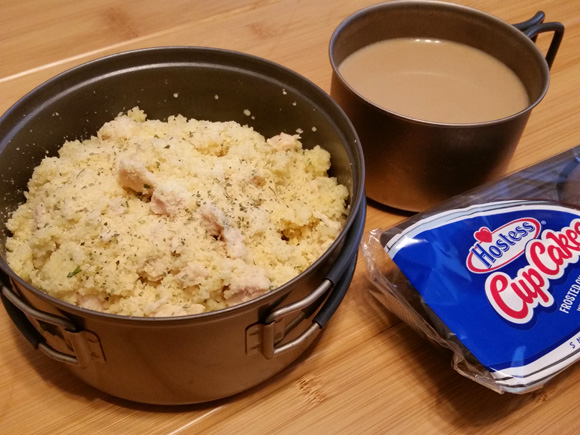Parmesan Chicken Couscous - Lightweight Backpacking Recipe
