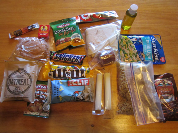Ultralight Backpacking Meal Plan - Day 1