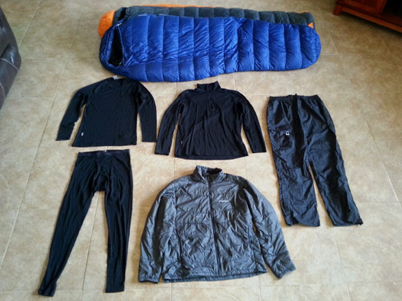 Erik the Black's Backpacking Gear List - Cold Weather Gear