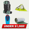 Budget Ultralight Backpacking Gear List (Under $1,000)