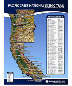 Pacific Crest Trail Wall Map