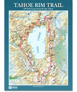 Tahoe Rim Trail Wall Map