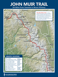 John Muir Trail Wall Map