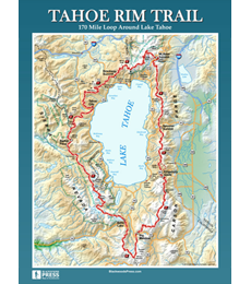 Tahoe Rim Trail Wall Map