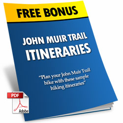 John Muir Trail Itinerary