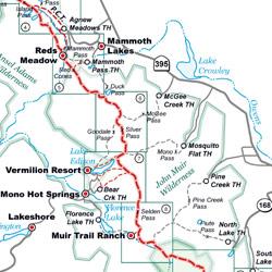 John Muir Trail Pocket Atlas  John Muir Trail Map  Blackwoods Press