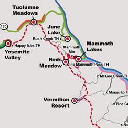 John Muir Trail Transit Map