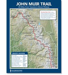 John Muir Trail Wall Map