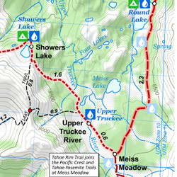 Tahoe Rim Trail Maps