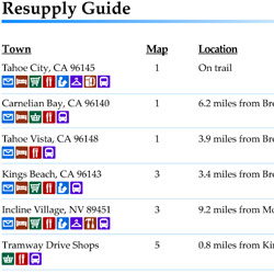 Tahoe Rim Trail Resupply Guide