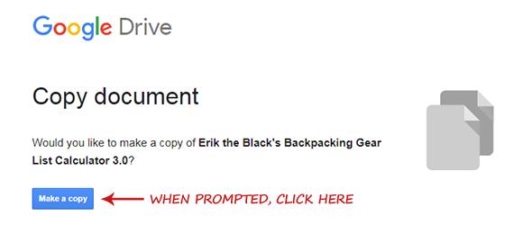 Backpacking Gear List Calculator Spreadsheet - Erik The