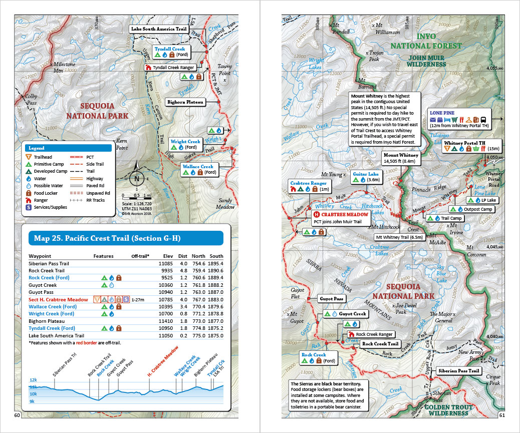 Pacific Crest Trail Pocket Atlas | Blackwoods Press on