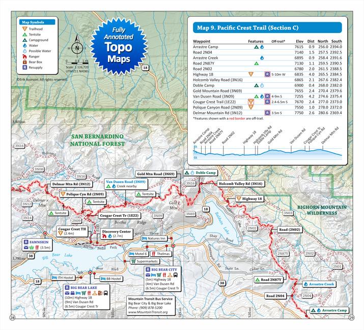 Pacific Crest Trail Pocket Atlas | Blackwoods Press