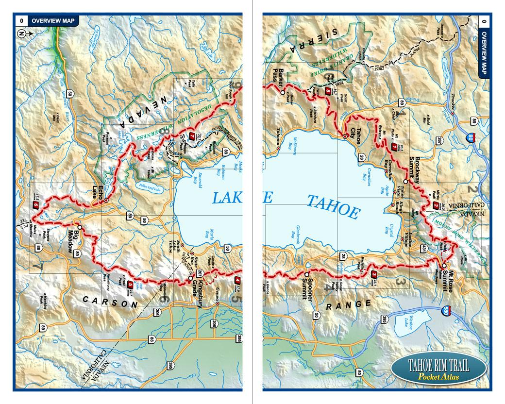 Tahoe Rim Trail Pocket Atlas Tahoe Rim Trail Map Blackwoods Press